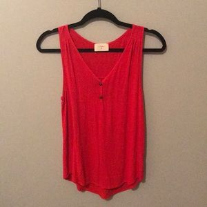 Everly sleeveless red top